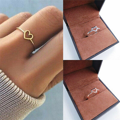 Women Love Heart Best Friend Ring Promise Jewelry BFF Friendship Rings Bands New