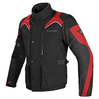 Dainese Tempest D-Dry Textile Black Red Motorcycle Jacket New RRP £259.94!!
