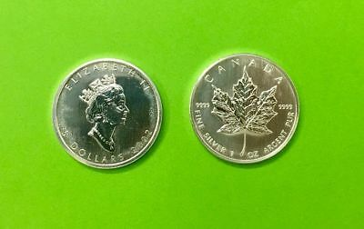 5 can-$  Maple Leaf 2002 Silber 1 Unze