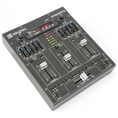 Table De Mixage Compact Skytec Stm-2270 4 Canaux Bluetooth Usb Sd Mp3 Equalizer