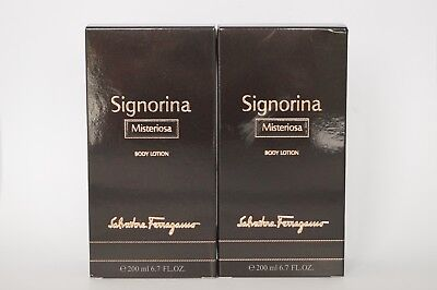 SALVATORE FERRAGAMO, SIGNORINA MISTERIOSA - BODY LOTION  _ 2 x 200ML#73-8-4