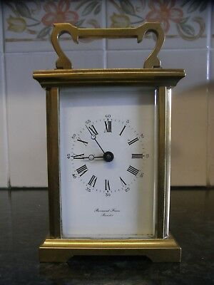Lovely Vintage Brass Cased Carriage Clock / Bornand Freres Bicester England