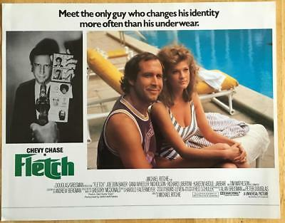 Chevy Chase Dana Wheeler by the swimming pool Fletch 1985 lobby card photo 169