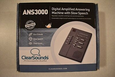 Digital Amplified Answering Machine with Slow Speech Playback, Big Buttons