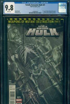 TOTALLY AWESOME HULK #21 CGC 9.8 NM/MT 1st WEAPON H Cameo Marvel Comic WOLVERINE
