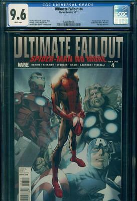 ULTIMATE FALLOUT #4 CGC 9.6 NM+ 1st MILES MORALES Spider-Man  Marvel Comics KEY