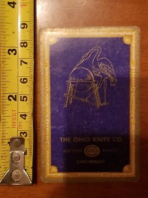 Rare Old Company Playing Card Single Ohio Knife Okco 606 Congress 8 Diamonds