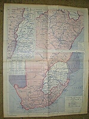 """circa 1890s. MAP OF SOUTH AFRICA INC SOUTH AFRICAN REPUBLIC etc. 24"""" by 18"""""""