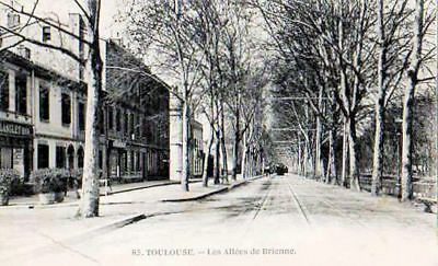 31 Cpa Animee Debut 1900- Toulouse -Les Allees Brienne