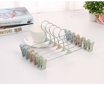 Hot 1PC Clip Coat Hangers Clothes Closet Pant Trouser Skirt Non-slip Rack Hook