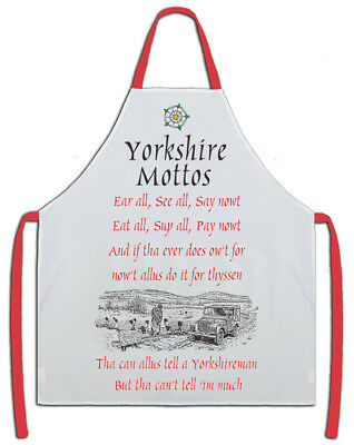 Yorkshire Mottos Apron - Makes an ideal Gift