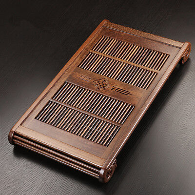 Chinese style solid wood tea tray Wenge tea table reservoir tea boat wooden tray