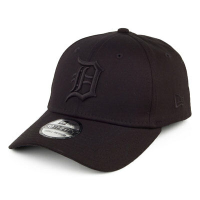 New Era Hats 39THIRTY Detroit Tigers Baseball Cap - Black on Black ...