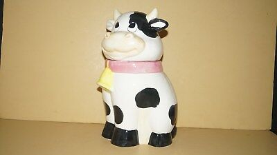 Collectible Fine Housewares Cow Cookie Jar By Artmark