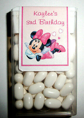 28 Minnie Mouse Birthday Party Favors Tic Tac Labels ~ Personalized