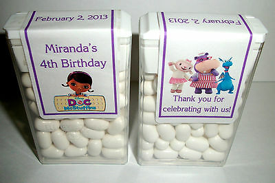 28 Doc Mcstuffins Birthday Party Favors Tic Tac Labels ~ Personalized