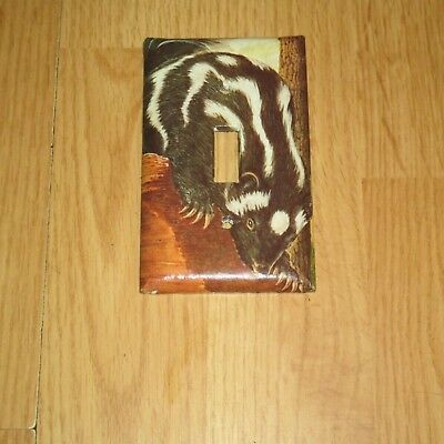 LITTLE SPOTTED SKUNK FARM ANIMAL Light Switch Cover Plate