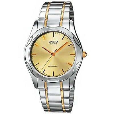 Casio MTP1275SG-9A Mens Stainless Steel Analog Dress Watch Gold Dial - Two Tone