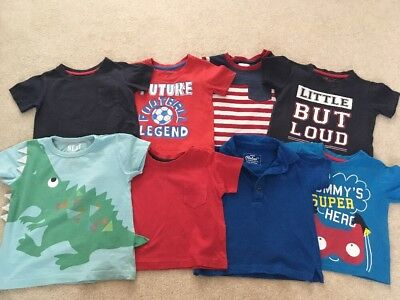 Bundle Of Boys T-shirts 18-24 Months