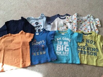 Bundle Of Boys T-shirts 6-9 Months