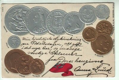 Embossed Card - Victorian and Edwardian Coinage