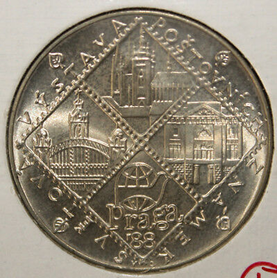 Czechoslovakia 100 Korun 1988 Brilliant Uncirculated Silver Coin - Post office