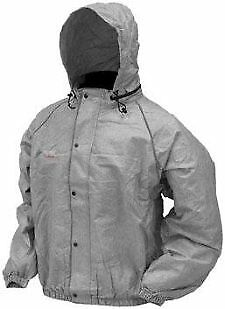 Frogg Toggs Road Toad Jacket(Foul Weather Gear) GRAY size 2XL (50-6307)