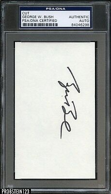 President George W. Bush Signed 3x5 Index Card PSA/DNA Autographed AUTO