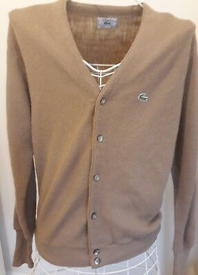 Mens Vintage Izod Lacoste Cardigan Size Medium