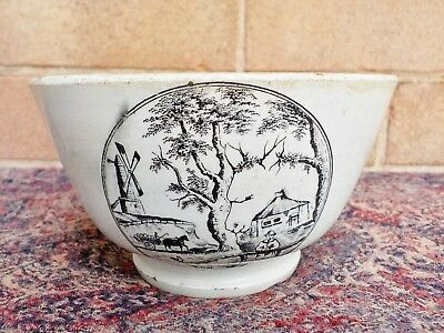 Antique Victorian pottery Puzzle Bowl c1890 Where is the Donkey ? damage a/f