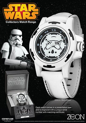Official Licensed Star Wars Stormtrooper Limited Collector Stainless Steel Watch