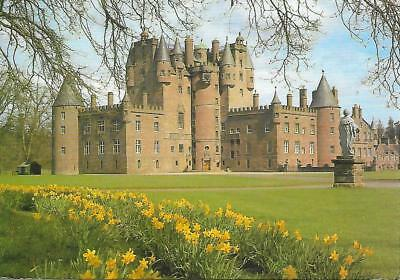 Glamis Castle, Angus - in Spring - Posted Postcard