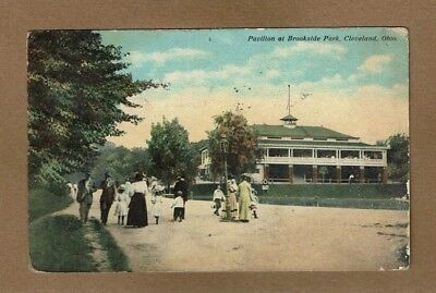Cleveland, Ohio, OH, Pavilion at Brookside Park used 1911 stamp removed