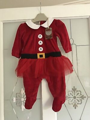 Baby Girls Next Red Christmas Tutu Babygrow Age 0-3 Months BNWT NEW