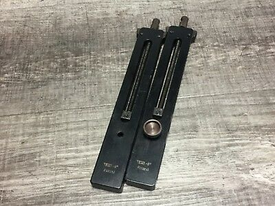"""Pair Of Vis Poland Gage Block Clamps 6  """""""
