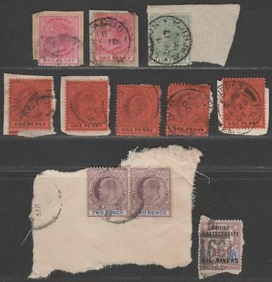 Lagos QV-KEVII Selection to 2d Used Mostly on Pieces