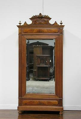Antique French Renaissance Single Door Armoire Wardrobe