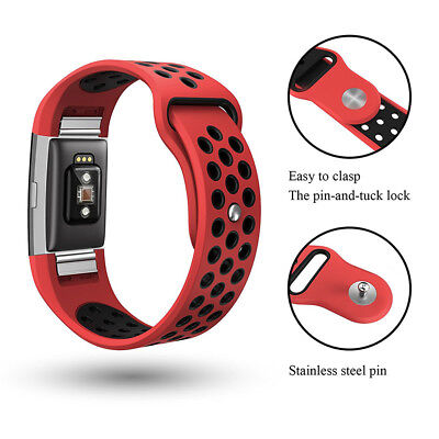 For Fitbit CHARGE 2 Replacement Silicone Band Rubber Strap Wristband BraceletPop