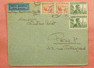 Pair On 1940 Lithuania Buivydziai Cancel Airmail To France
