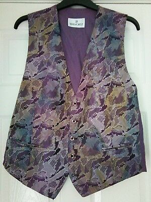 "Men's Waistcoat from 'Wilvorst' in attractive & unusual pattern.  Size 44"" Chest"