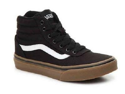 183afaa8750381 Boys Youth VANS WARD Black+Brown High Top Athletic Sneakers Skate Shoes NEW