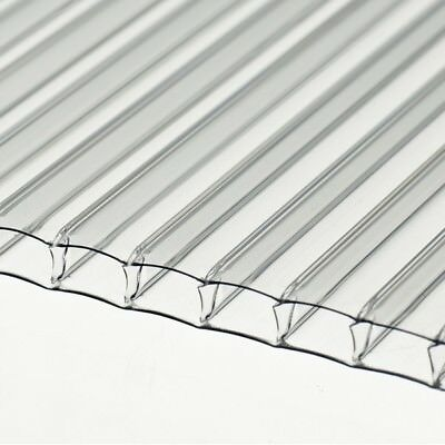 10 pc 4mm POLYCARBONATE SHEET 6ft x 2ft FOR GREENHOUSES