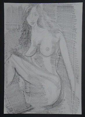 "ROBERT CALIX (1919/2008) Drawing "" NAKED FEMALE "" Signed"