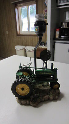 1999, John Deere Tractor & Windmill Table Lamp, 11 1/2 in. Tall w/o Shade