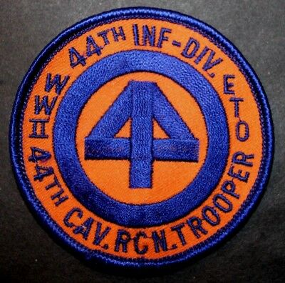 "Wwii Ww2 U.s. Army 44Th Cavalry Reconnaissance Trooper, 44Th Inf Div 3"" Patch"