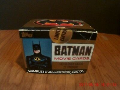 1989 Topps Batman Movie Card Set MIB NRFB SEALED