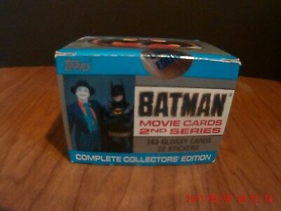 1989 Topps Batman Movie Card Set MIB NRFB SEALED And Series