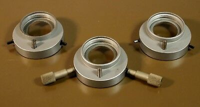 Lot of 3 Adapters and 2 Keys to Mount Objectives to LOMO POLAR Microscopes