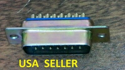 10pcs 15-Pin D-Sub Male DB15M Solder cup Connector - New Old Stock