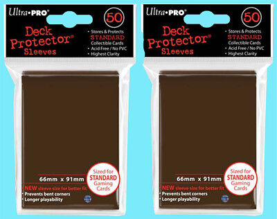 100 Ultra Pro BROWN DECK PROTECTOR Card Sleeves NEW Standard Size game ccg mtg